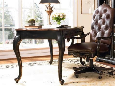 30 x 60 writing desk hooker furniture grandover black with gold accents 60 l x