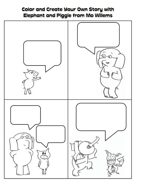 coloring page elementary library pinterest mo willems 20 best images about piggie and gerald on pinterest