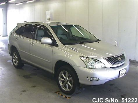toyota harrier 2008 2008 toyota harrier silver for sale stock no 51222