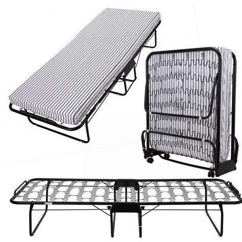 folding twin bed frame homegear rollaway heavy duty steel frame metal spring