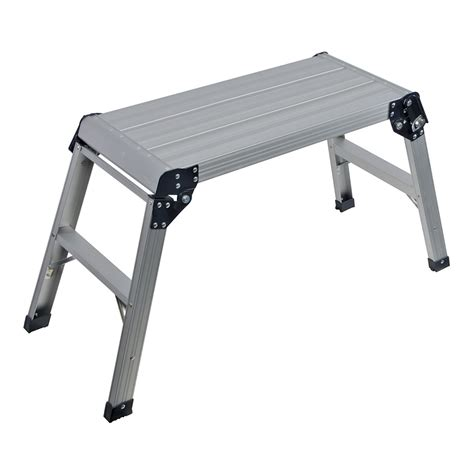 step up benches hop step up platform stool folding aluminium work bench