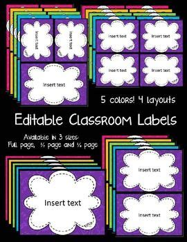 estera math free classroom labels in fun bright colors with a math