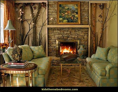 Cabin Themed Living Room by Decorating Theme Bedrooms Maries Manor Log Cabin