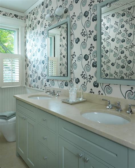 Bathroom With Wallpaper Ideas with Wallpaper Ideas To Make Your Bathroom Beautiful Ward Log Homes