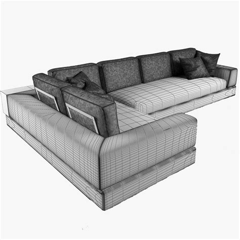 arketipo sofa arketipo plat sofa 3d model rigged max obj fbx cgtrader com