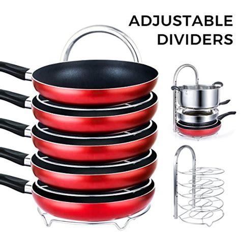 Rack To Hold Pots And Pans Lifewit Height Adjustable Pan Pot Organizer Rack 5 Tier