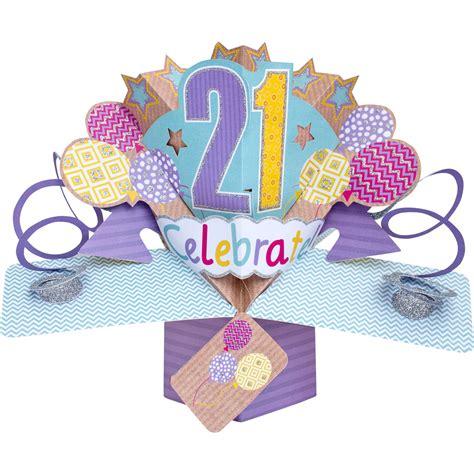 Birthday Pop Up Greeting Card happy 21st birthday pop up greeting card cards kates