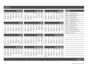 Blank One Month Calendar Template by 2017 12 Month Calendar Template One Page Free Printable