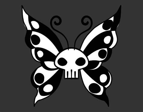 imagenes emo para pintar dibujo de mariposa emo pintado por maiakergan en dibujos
