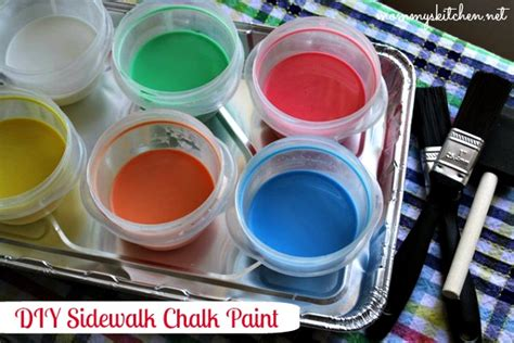 diy sidewalk chalk paint recipe s kitchen recipes from my kitchen diy