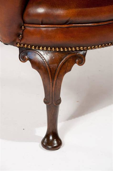superb quality 19th century antique leather wing chair at superb quality 19th century antique leather wing chair at