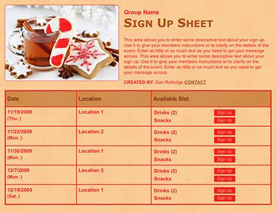 holiday potluck sign up sheet template search results