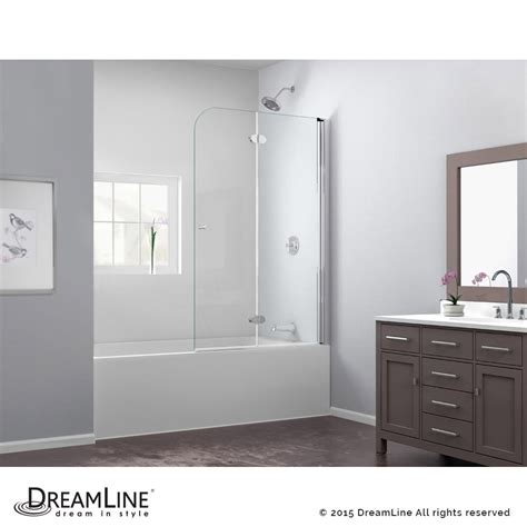 folding tub shower doors dreamline showers ez fold hinged tub door