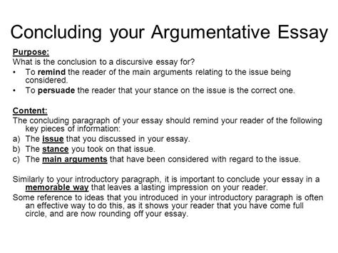 Conclusion To Persuasive Essay by Persuasive Essay Conclusion Exles