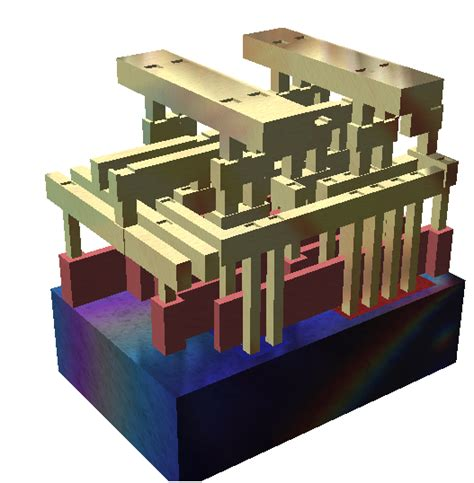 integrated circuits or microchips are built using layers of gdsii