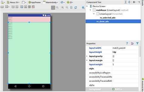 layout height get height size in pixel of a viewgroup recyclerview