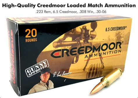 excellent factory ammo offered by creedmoor sports
