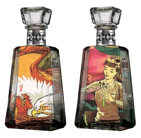 art design in bottle 1800 tequila essential artists bottles the dieline