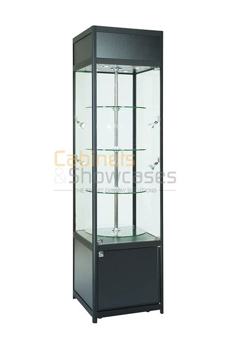 rotating shelves kitchen cabinets aluminium revolving display cabinet with storage top section