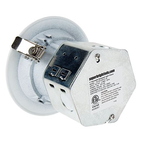 led recessed lighting junction box 4 quot recessed led downlight w built in junction box and