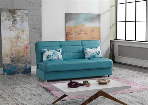 romano sofa bed  blue fabric  casamode