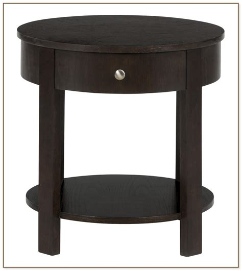 round side table with drawers round end tables with drawers