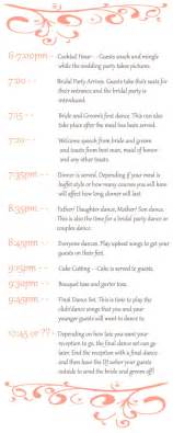 wedding reception timeline template wedding reception timeline on reception