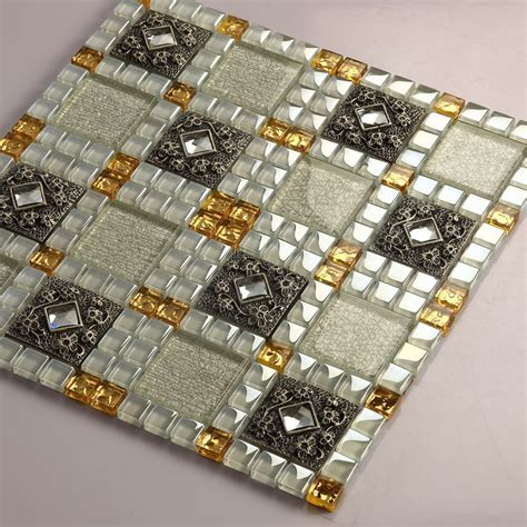 Crystal Glass Tiles Sheet Diamond Mosaic Art Wall Stickers