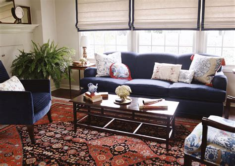 oriental rugs interiors august 2009 navy upholstery with red oriental rug alexandra angle