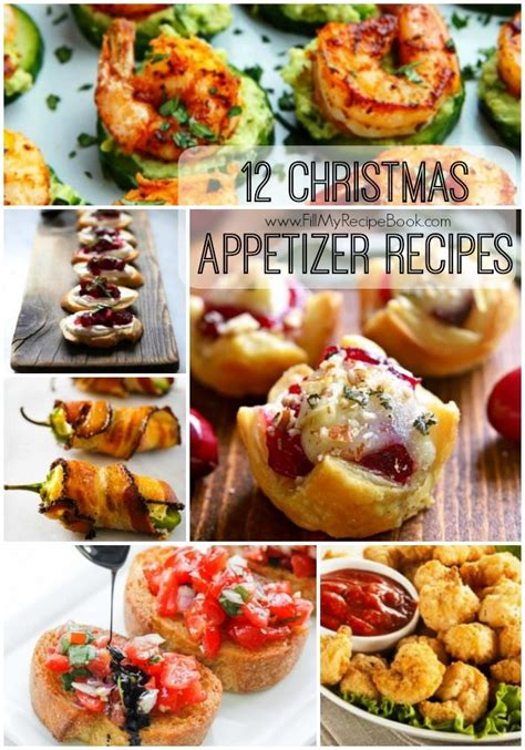 christmas appetizer recipes fill  recipe book