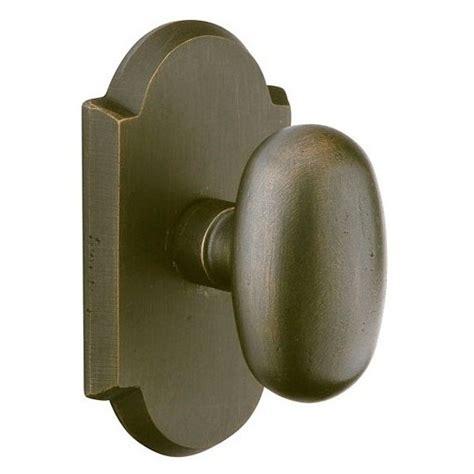 emtek sandcast bronze egg door knob set low price door knobs