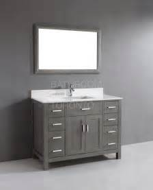 bathroom vanity gray kl48sb grey