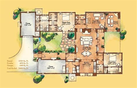 santa fe style house plans las terrazas a neighborhood located in las canas in