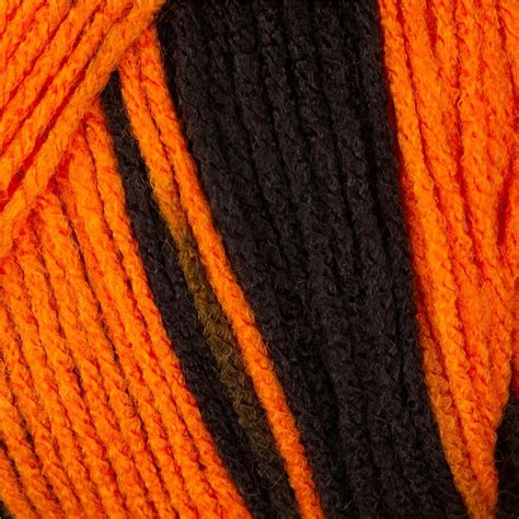 black and white yarn patterns red heart team spirit yarn 972 orange black discount