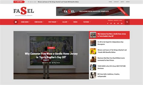 fasel news magazine blogger template free download