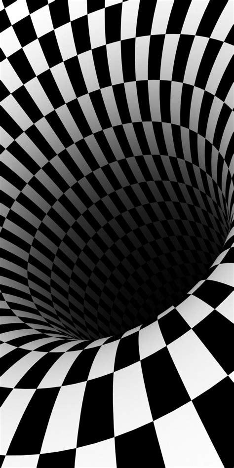wallpaper for iphone 6 that moves black hole checkered vortex optical illusions 720x1440