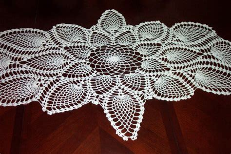 image crocheted table runner this centerpiece lives on