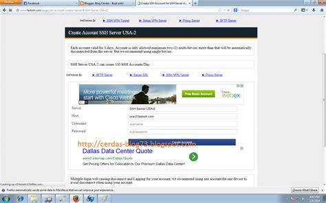membuat akun blog gratis cara buat akun ssh gratis terbaru 2014 blog cerdas
