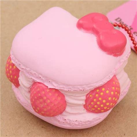 Squishy Jumbo Macaron Hellokitty pink hello macaron squishy charm food squishies