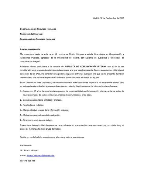 Modelo De Carta De Presentacion Con Curriculum Vitae Modelo De Carta De Presentaci 243 N 04 Curr 237 Culum Entrevista Trabajo