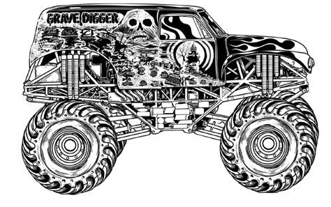 grave digger coloring pages grave digger truck coloring pages