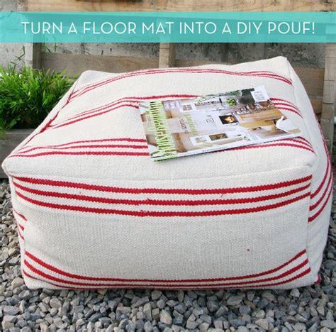 diy pouf ottoman   inexpensive floor