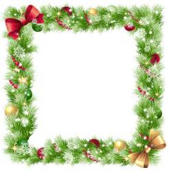 Twelfth Night Decorations Christmas Png Frame With Ornaments And Snowflakes