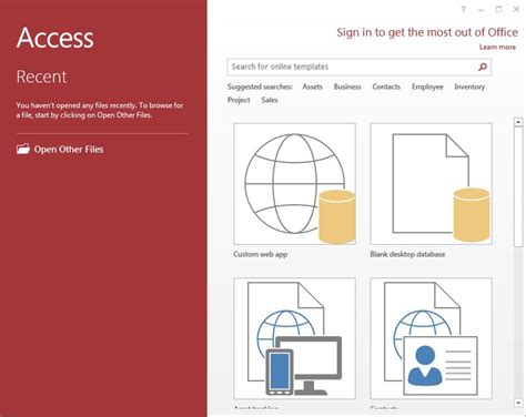 access 2013 templates make a microsoft access 2013 database using a template