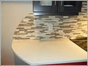 Red Tile Backsplash Kitchen Glass Mosaic Tile Backsplash Edge Tiles Home Design