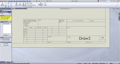 solidworks drawing template tutorial request drawing boarders with title blocks a3 a2 a1 a0