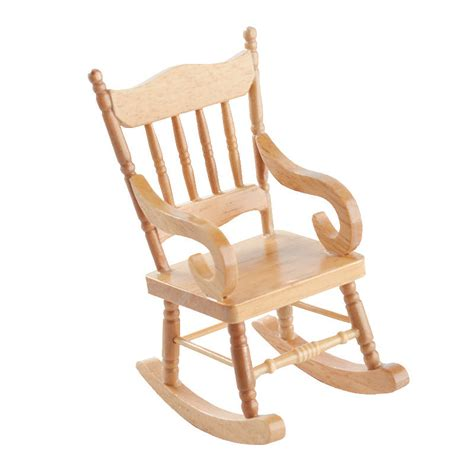 Mini Rocking Chair by Miniature Wood Rocking Chair Miniature Furniture