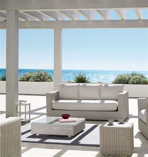 divani per esterni divano a 3 posti da esterno in fibra etwick con cuscino