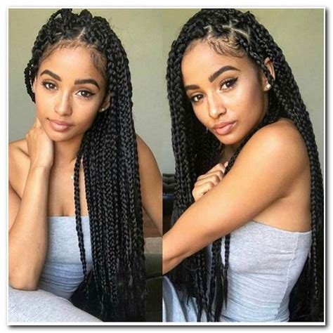 cute easy hairstyles for box braids | new hairstyle designs