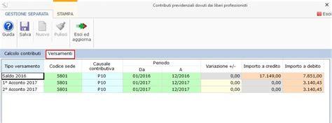 codice sede inps gestione separata inps integrato gb